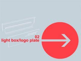 Lysboks - logo plader