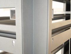 Hjørne profil type nr. 1021-90 findes i 6 højder. Bruges ved enkeltsidet væg opstilling ved udvendig og indvendig hjørner.