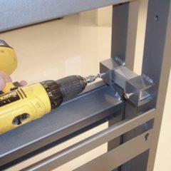 Afstandsrør type nr. 1000/A med længde 11cm benyttes til montering af fritstående væg opstillinger