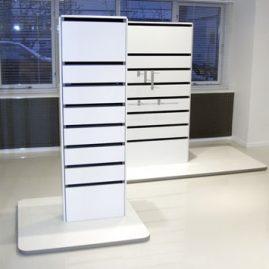 Væg units kan monteres på podie 1108/P-104, 1108/P-208 samt 1108/P-155