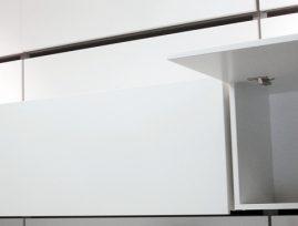 Skabs unit inkl. blændplade med tophængt låge nr 1124BD/40